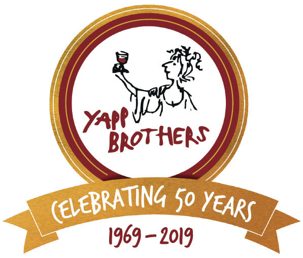 Yapp Brothers 50th anniversary logo